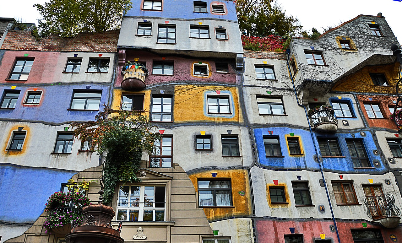 Wiedeń - Hundertwasserhaus