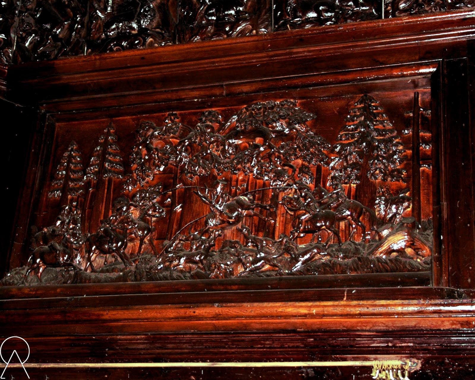Fragment sali myśliwskiej - Pałac Bożków
