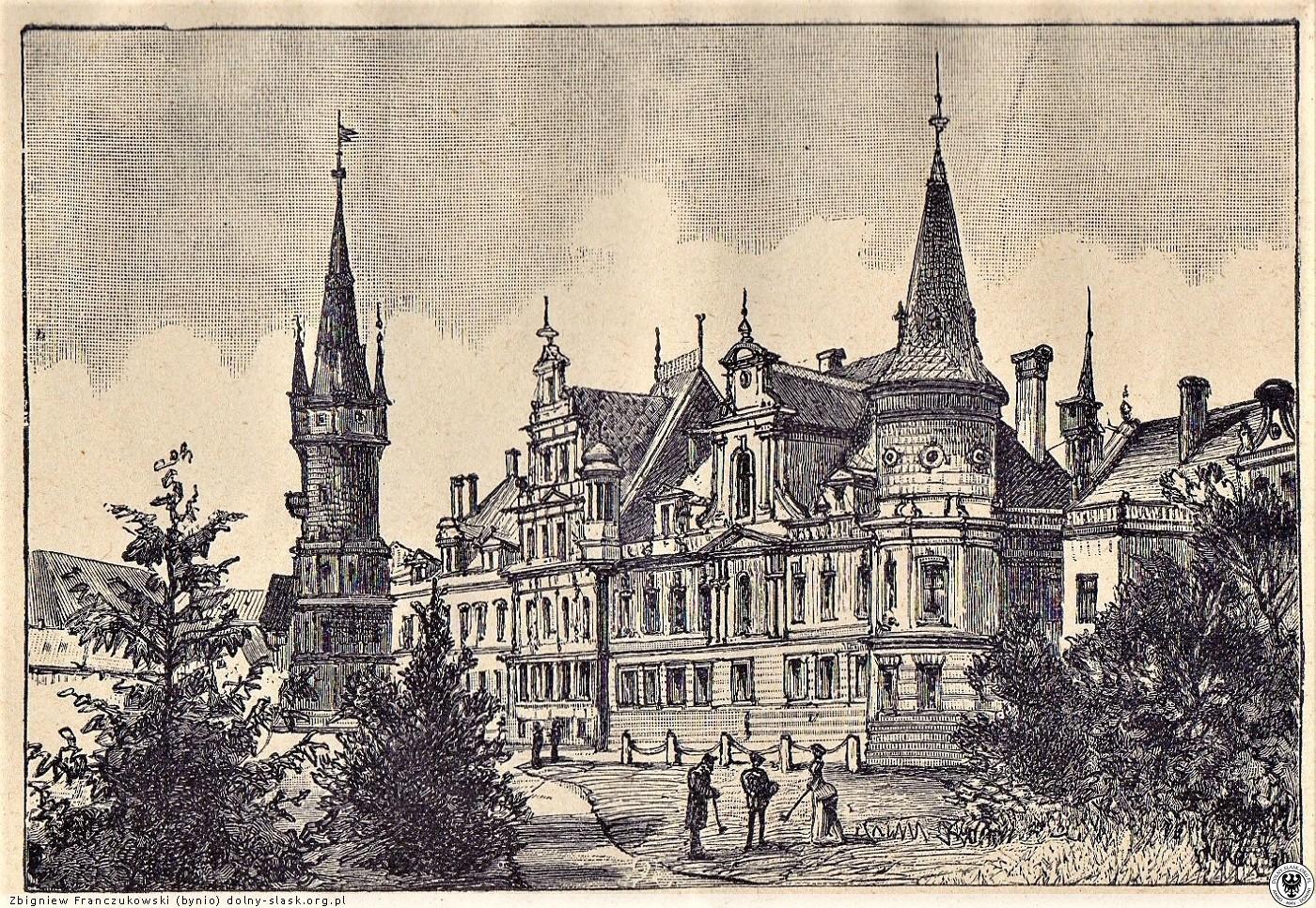 Pałac Bożków pierwotnie