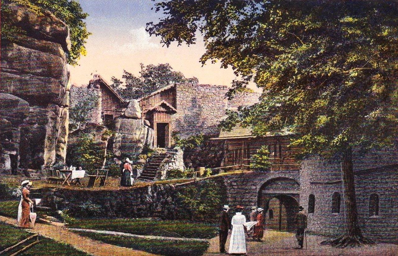Zamek Bolczów napocztówce z1915 roku
